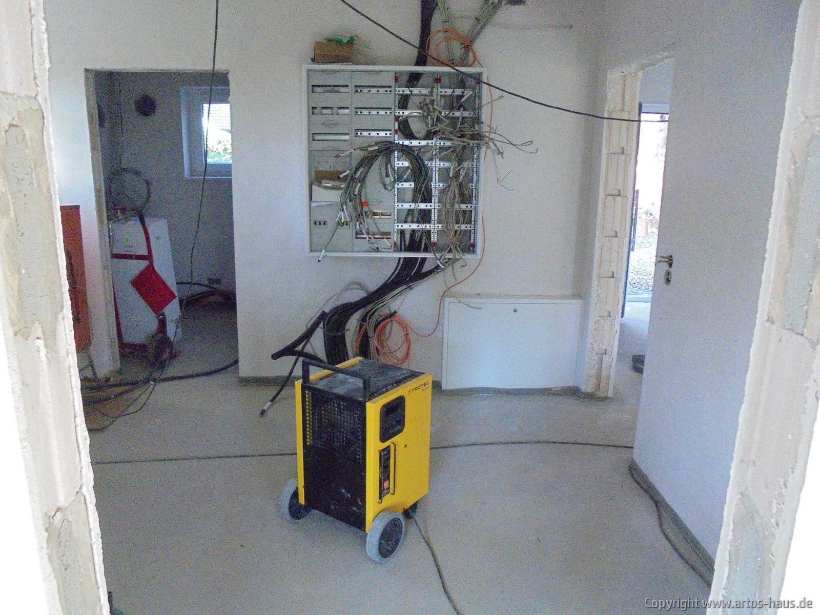 ARTOS Bauvorhaben Ruppichteroth, Bautrocknereinsatz
