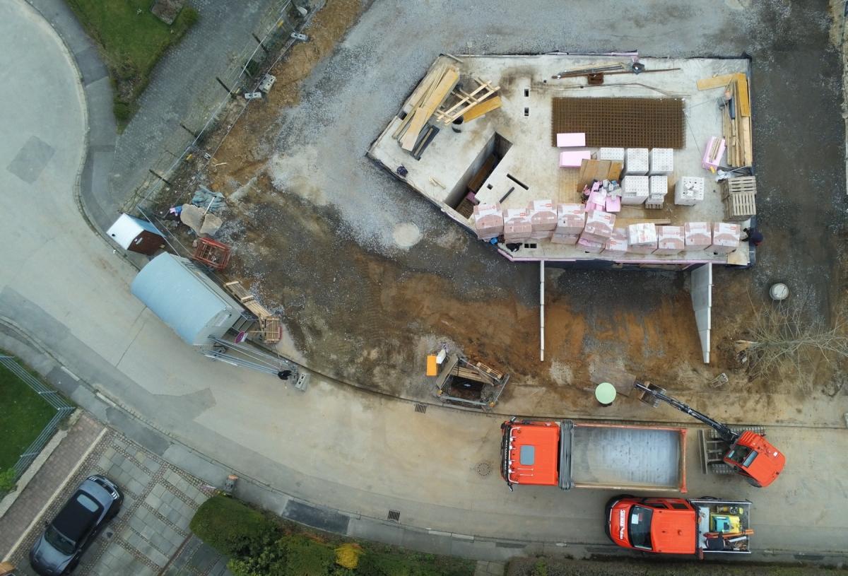 Luftbild 1 | ARTOS HAUS Baustelle Frechen