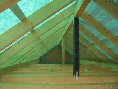 Dachstuhl, Folie & Lattung | ARTOS HAUS Bild 3