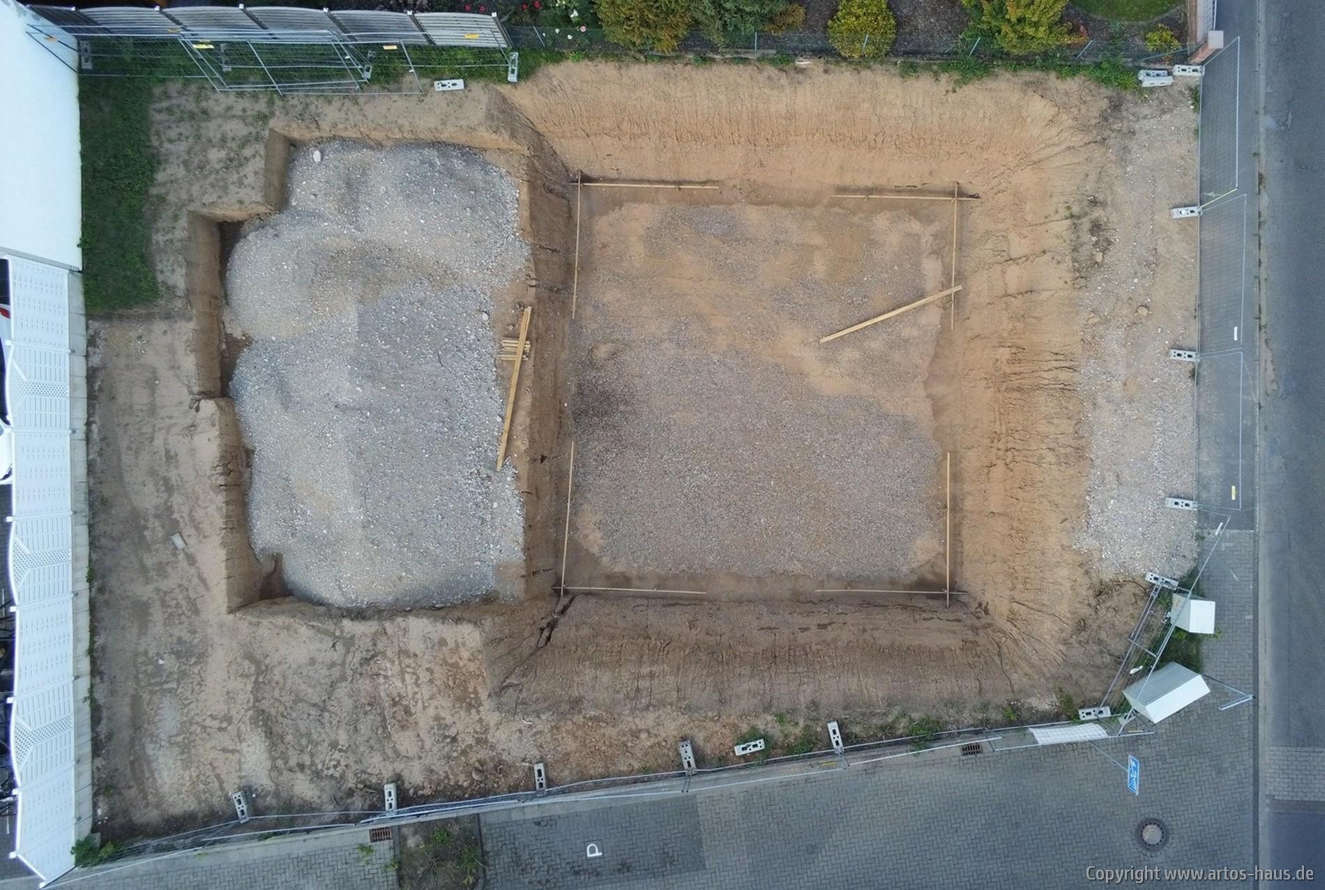 Luftbild der Baustelle | ARTOS-HAUS
