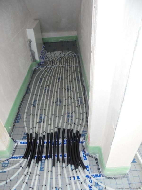 Auslegen der Fußbodenheizung Bild 2