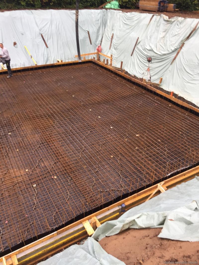 Bewehrung Kellerbodenplatte