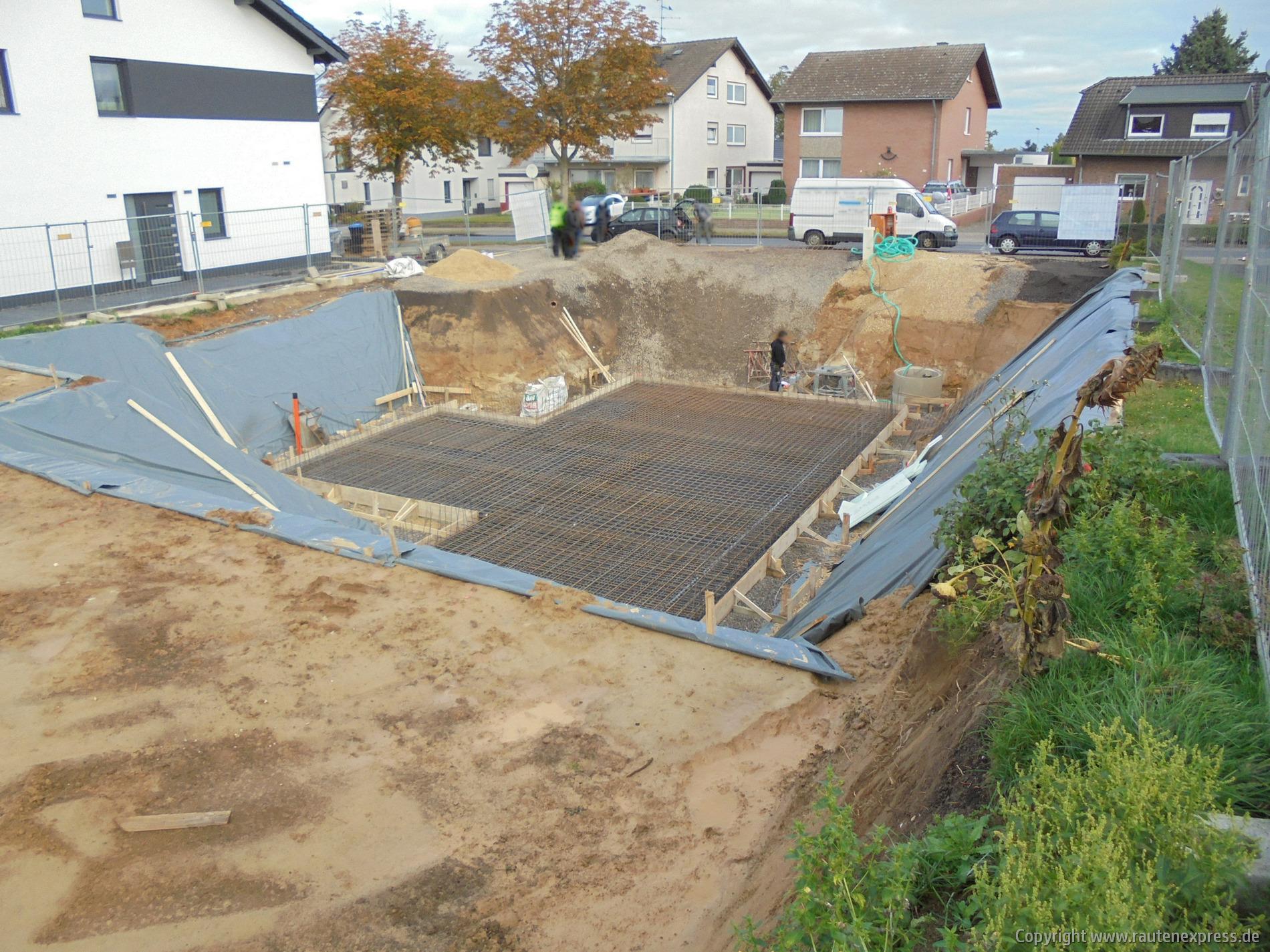 Vorbereitung für die Bodenplatte | www.artos-haus.de Bild 1