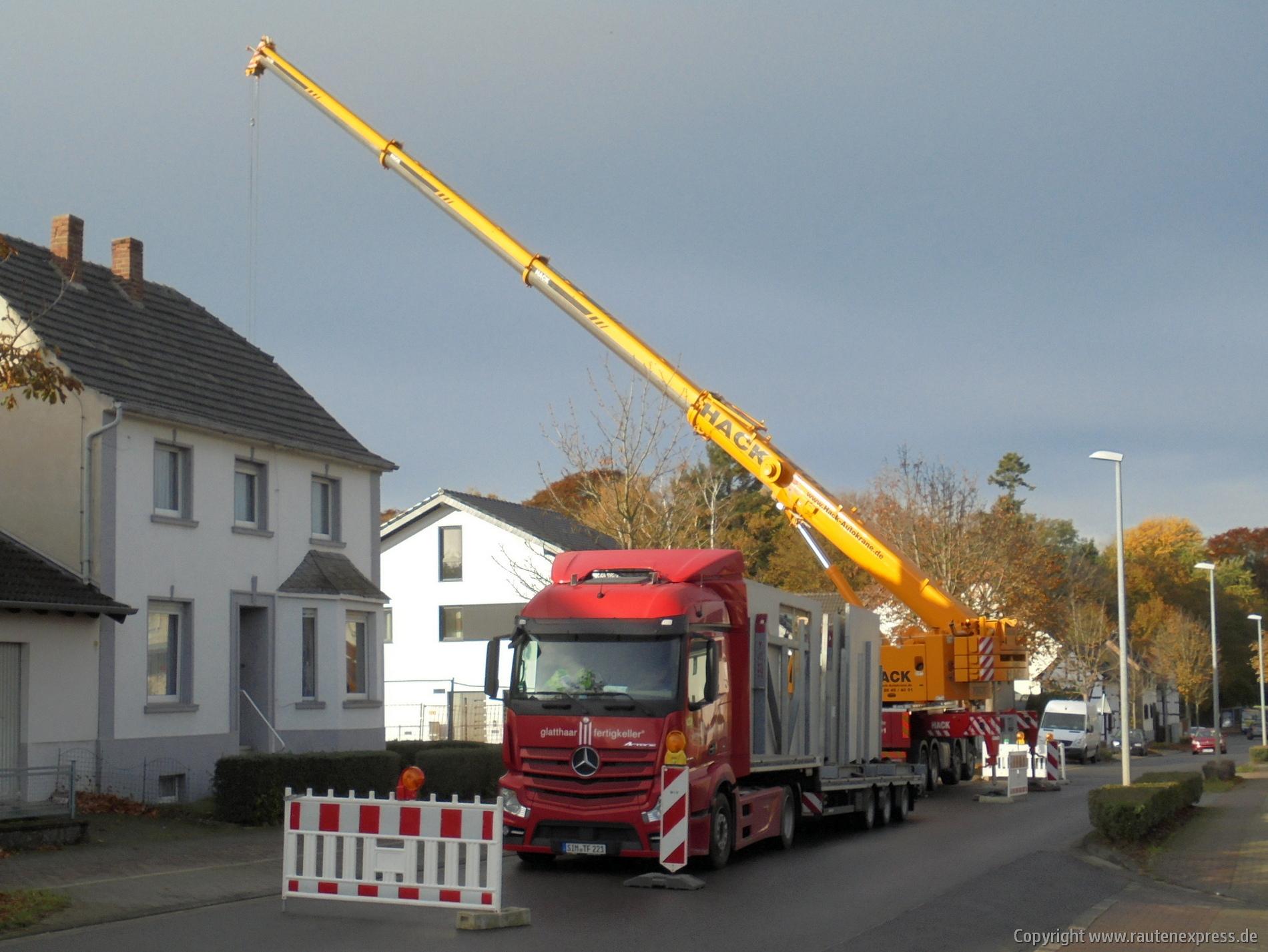 Kellerwände werden geliefert | artos-haus.de