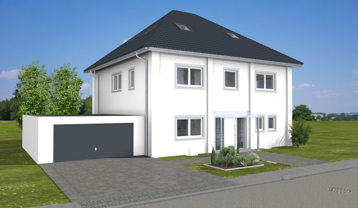ARTOS HAUS Stadtvilla in Bonn - 3D Visualisierung 2