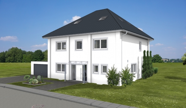 ARTOS HAUS Stadtvilla in Bonn - 3D Visualisierung 3