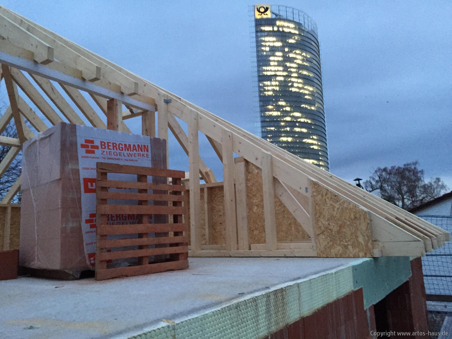 Dachterasse im Rohbau / www.artos-haus.de