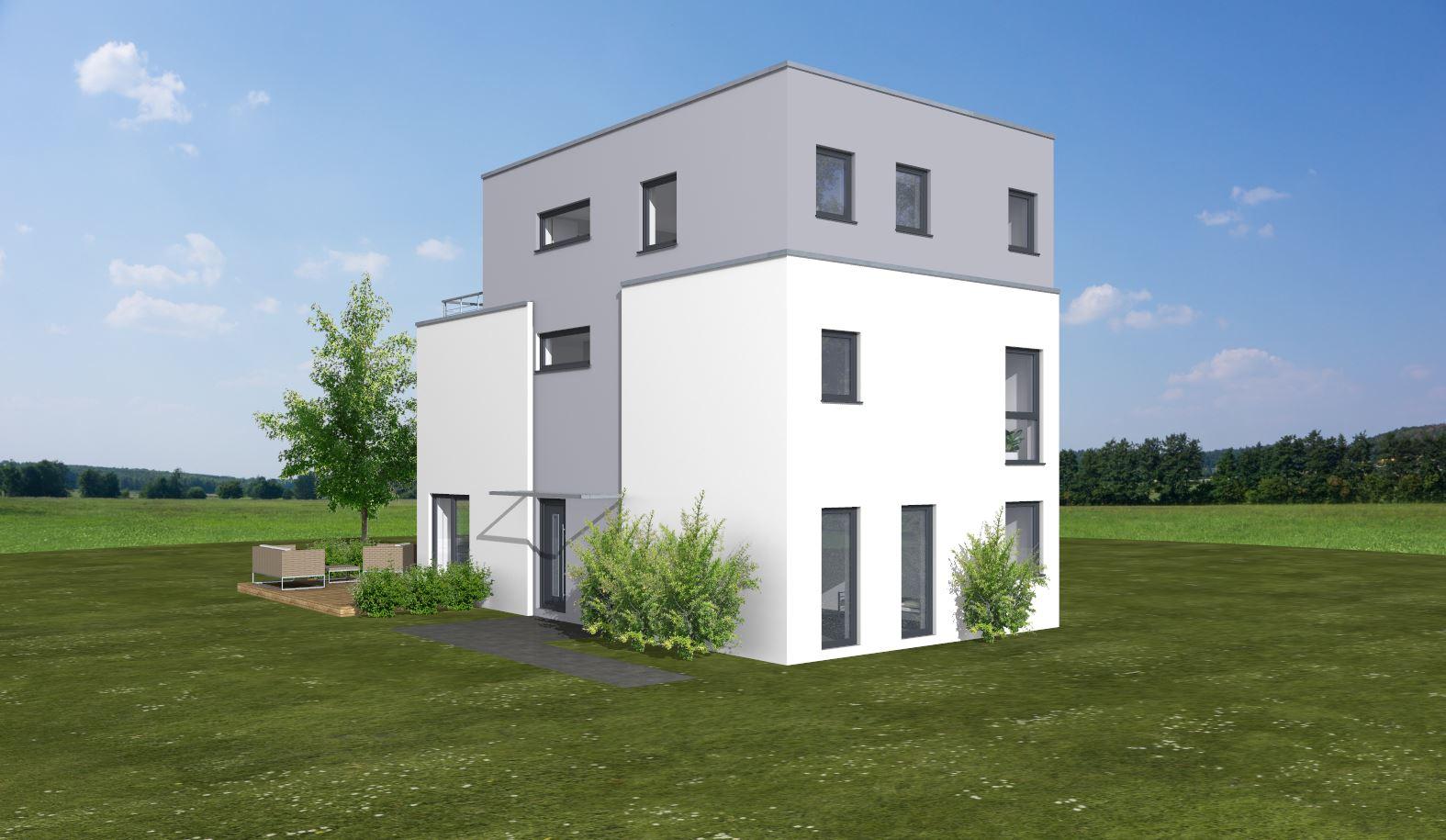 Mehrfamilienhaus im modernen Bauhaus-Stil