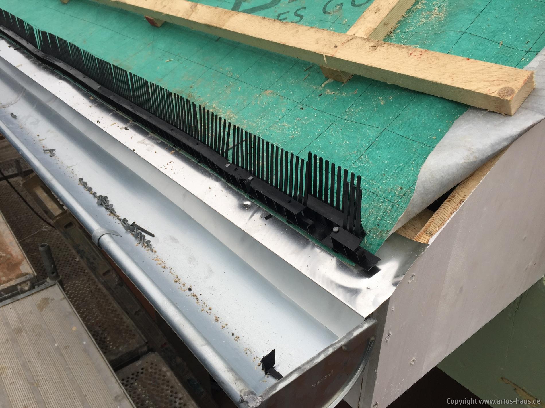 Ungezieferschutz im Dach / www.artos-haus.de