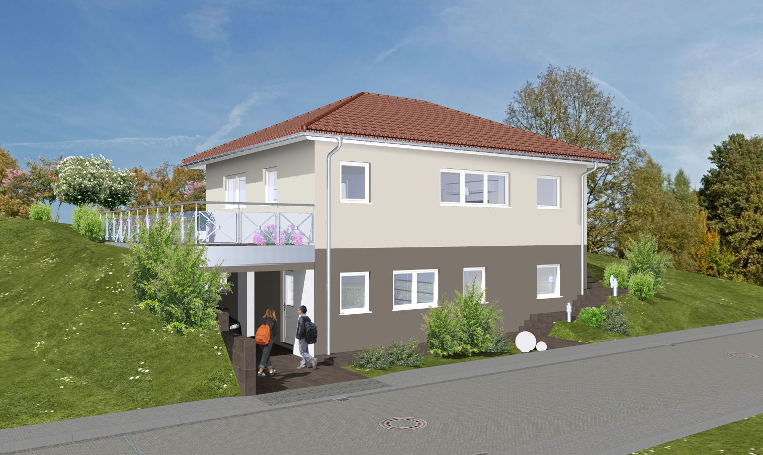 Bauvorhaben ARTOS HAUS in 53804 Much | Einfamilienhaus in Hanglage