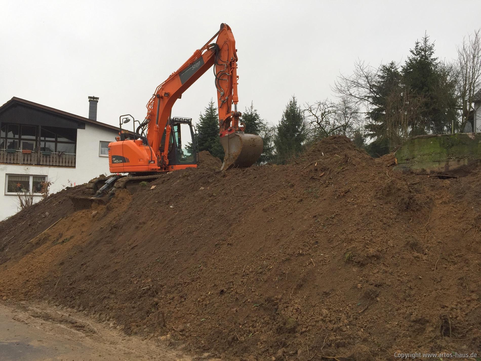 Erdarbeiten artos-haus.de Bauvorhaben in Much