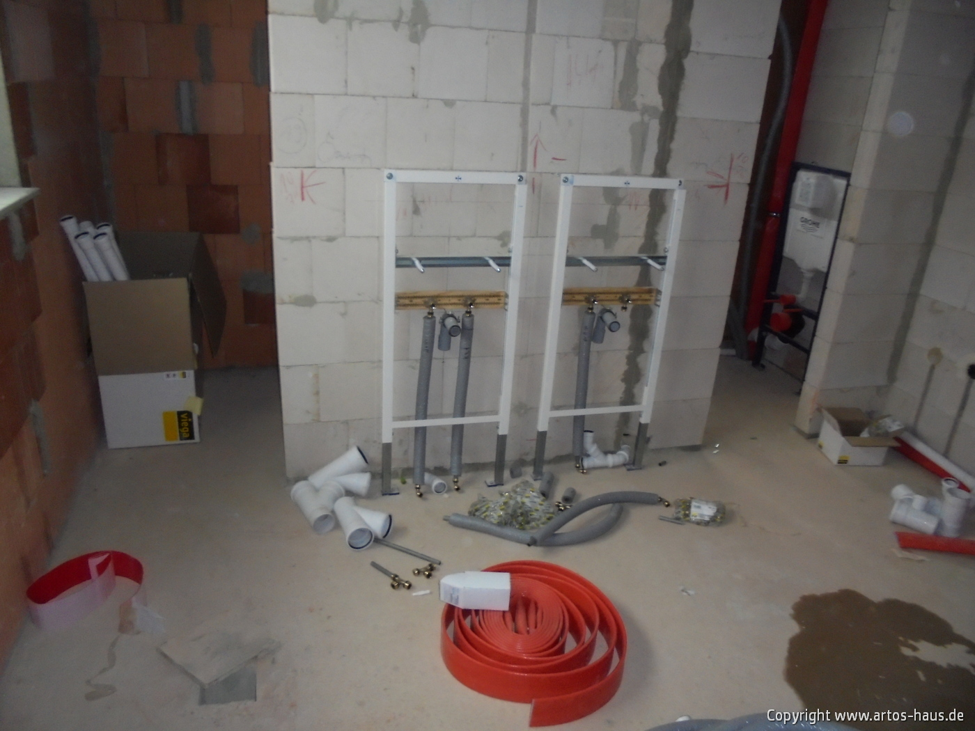 Rohinstallation Sanitär | ARTOS-HAUS Bauvorhaben in Bonn