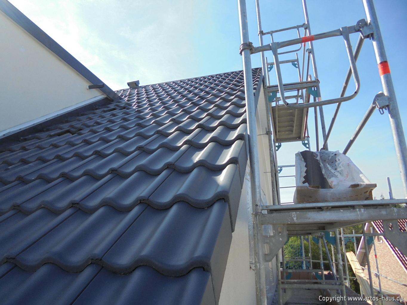 Dacheindeckung www.artos-haus.de Bild 2