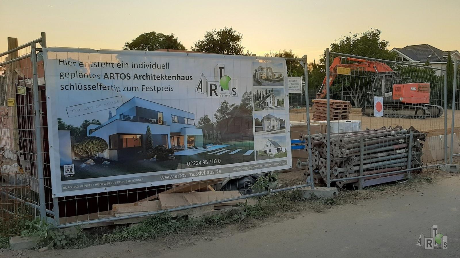 Bild unserer Baustelle in Hürth. Hier entstehen 3 DHH. www.artos-haus.de | Bild 6