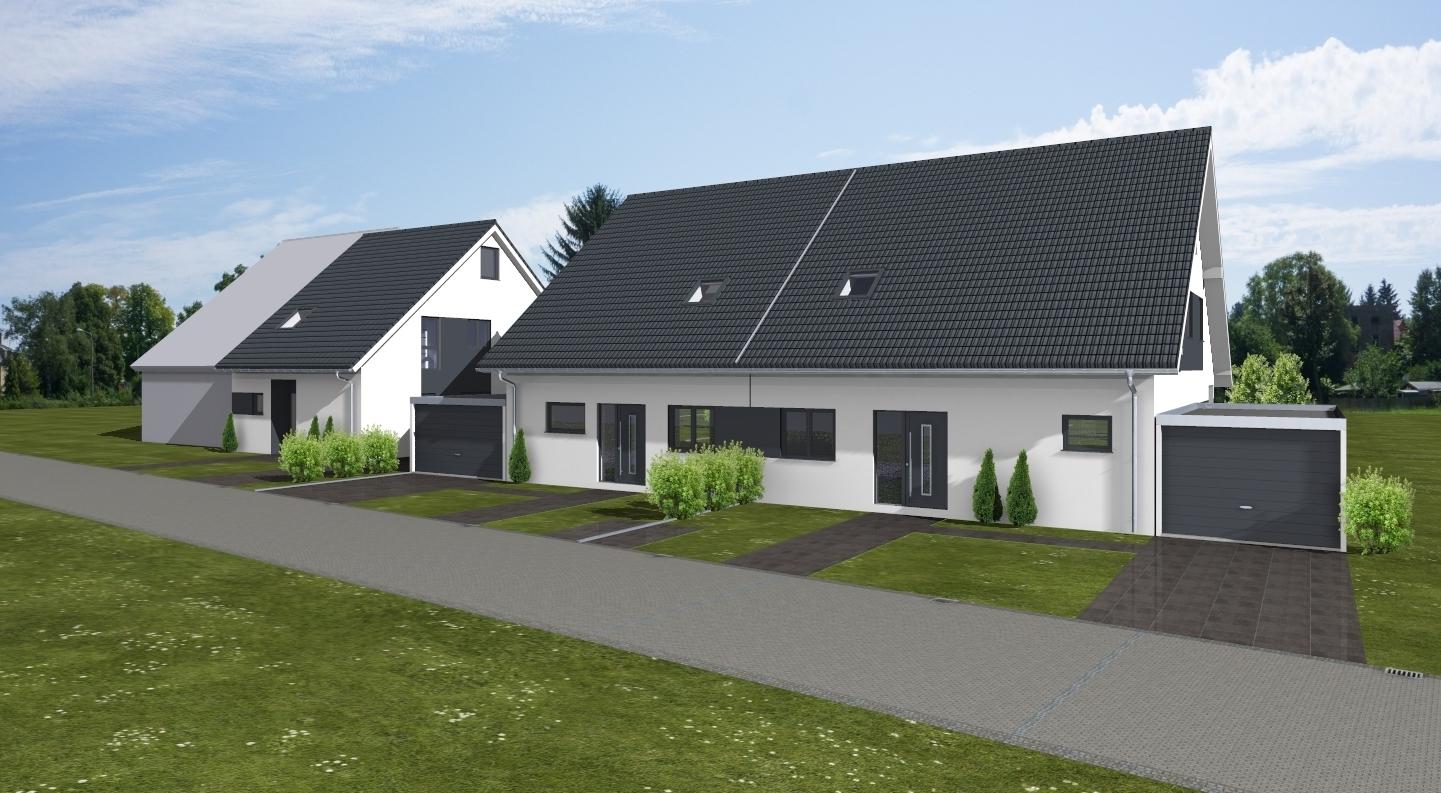 Bauvorhaben 3 Doppelhaushälften in Hürth / www.artos-haus.de Visualisierung Bild 1
