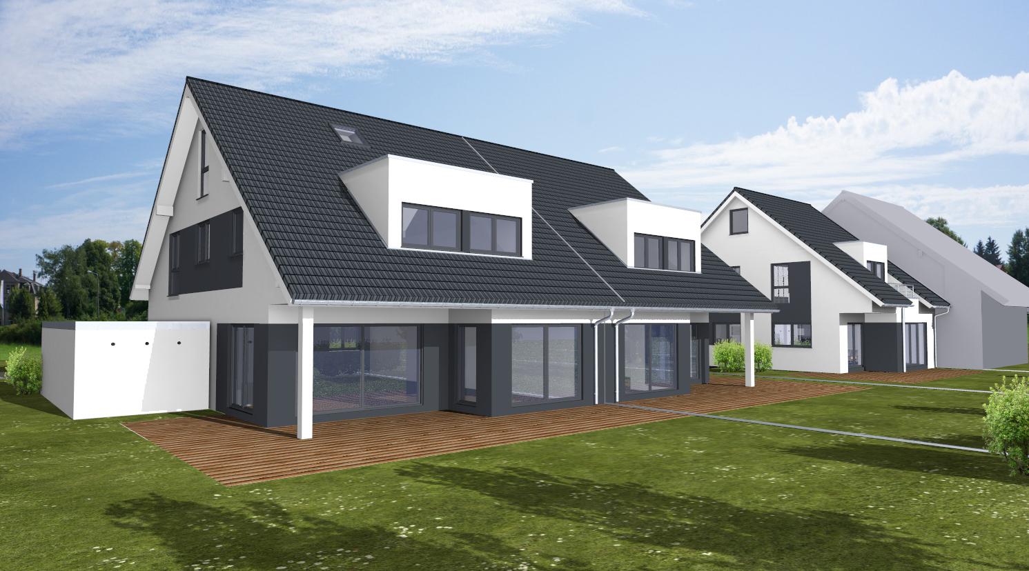 Bauvorhaben 3 Doppelhaushälften in Hürth / www.artos-haus.de Visualisierung Bild 5