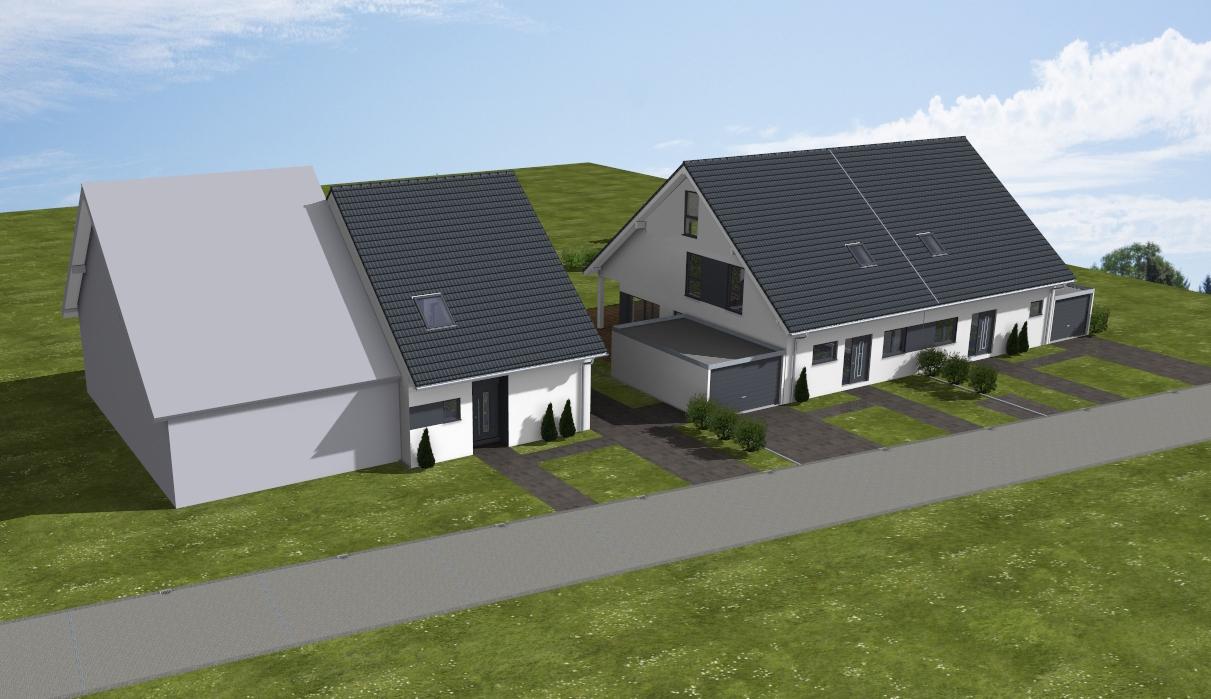 Bauvorhaben 3 Doppelhaushälften in Hürth / www.artos-haus.de Visualisierung Bild 2