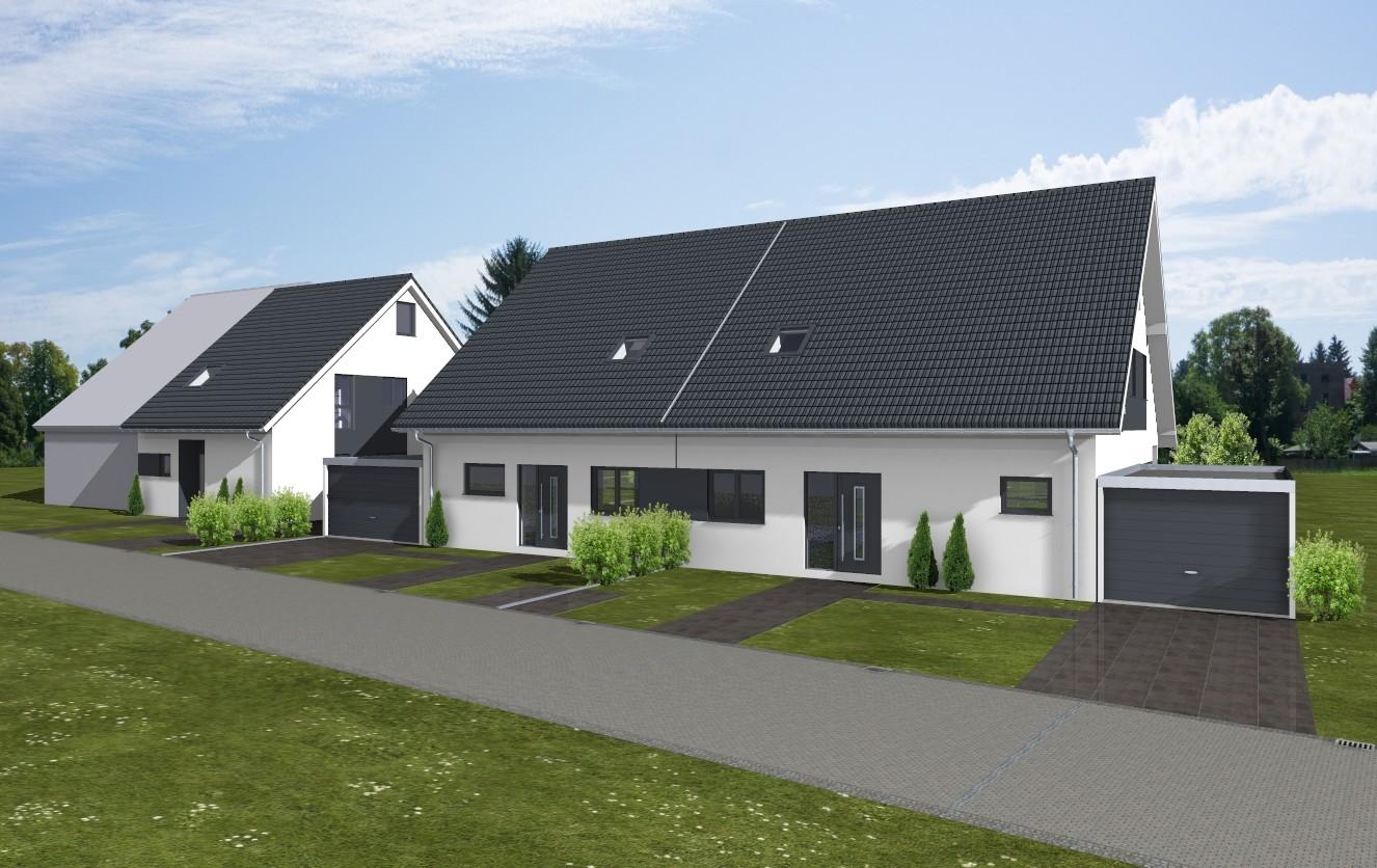 Bauvorhaben 3 Doppelhaushälften in Hürth / www.artos-haus.de Visualisierung