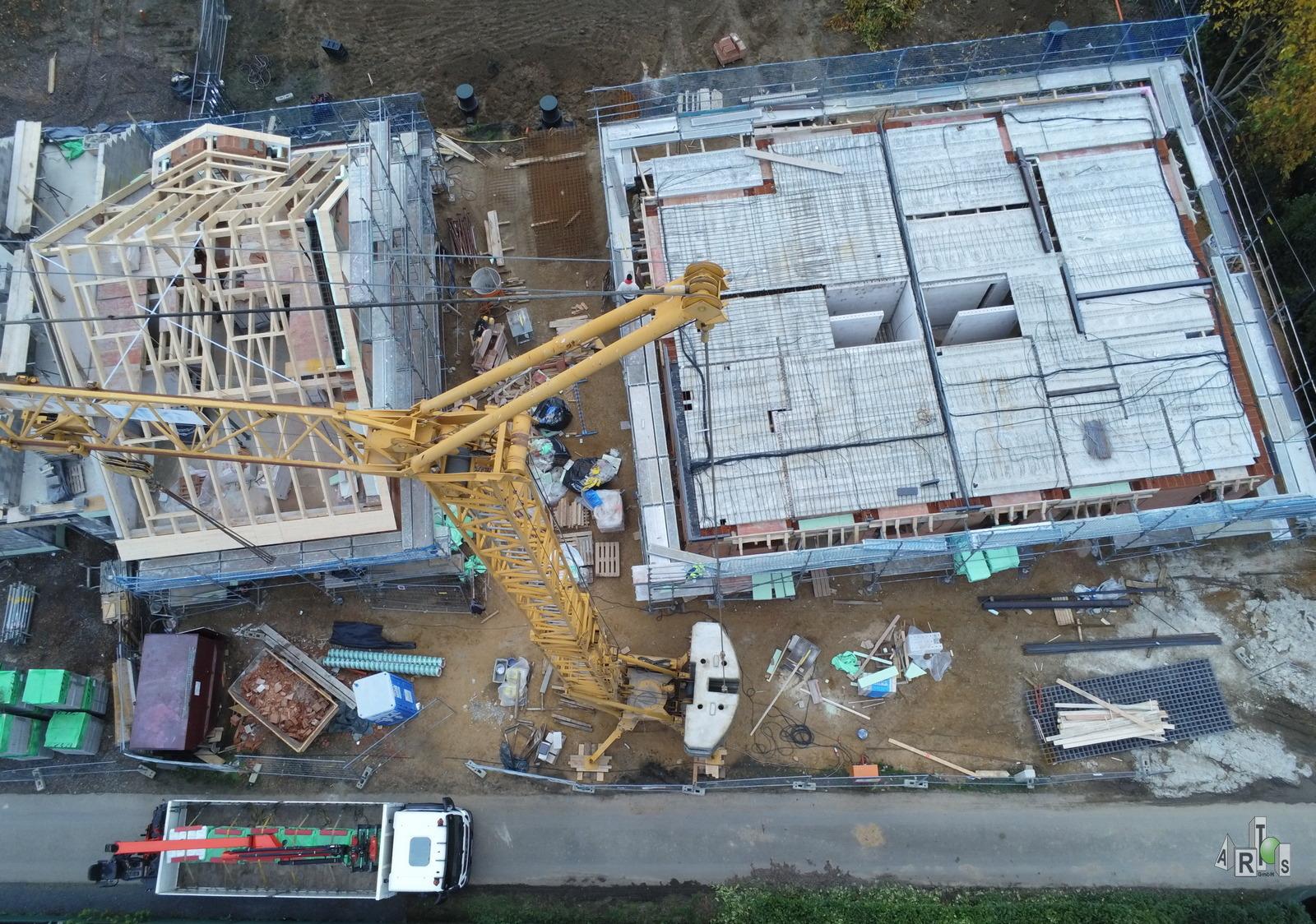 Luftbild der Übersicht unseres Bauvorhabens in Hürth / www.artos-haus.de