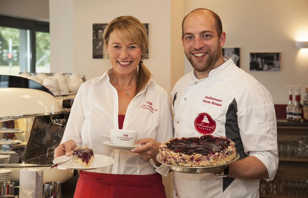 Heike Schlimbach und Martin Heimbach vom Cafe Schlimbach