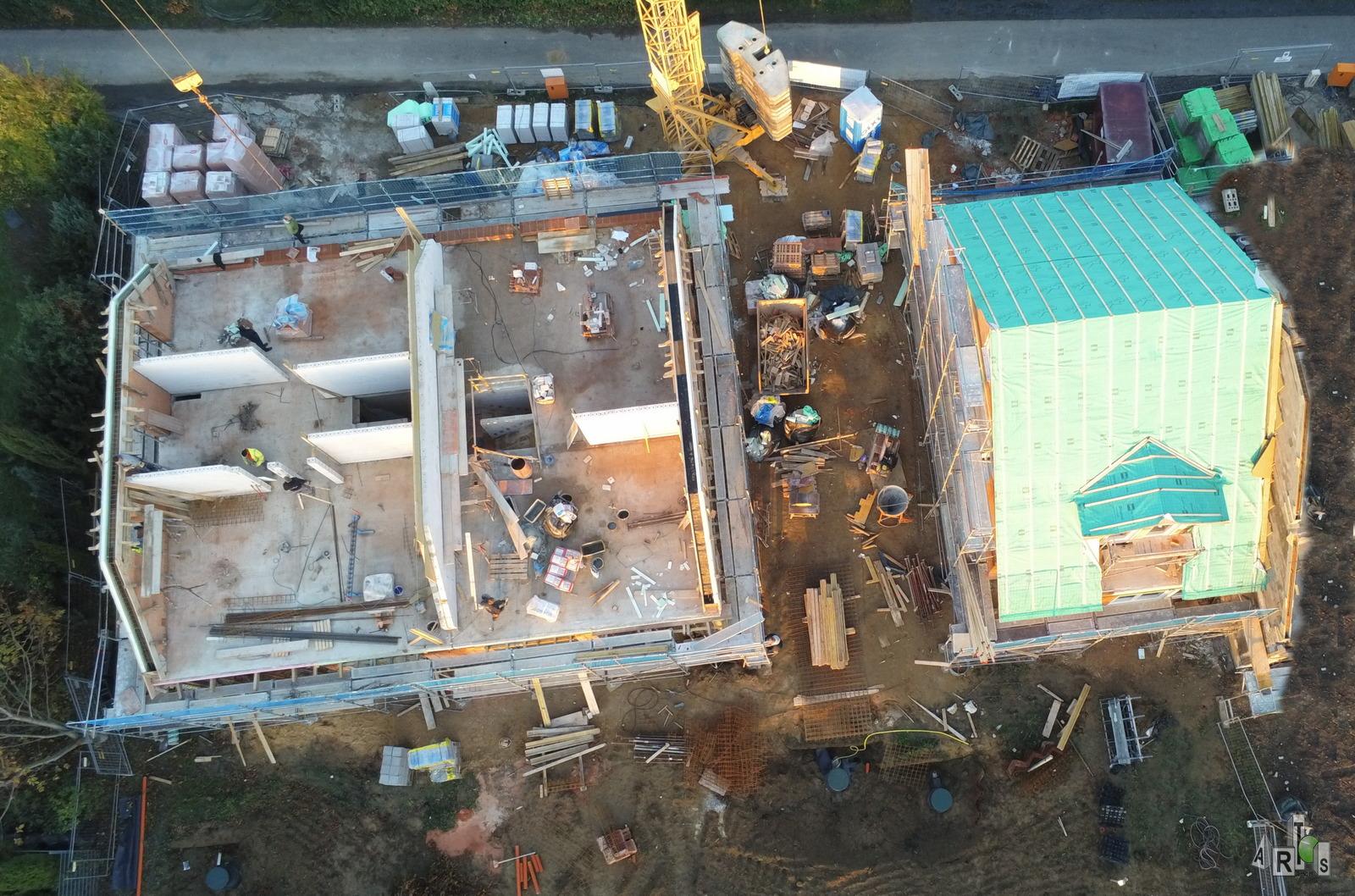 Luftbild unserer Baustelle in Hürth Ende Oktober 2020