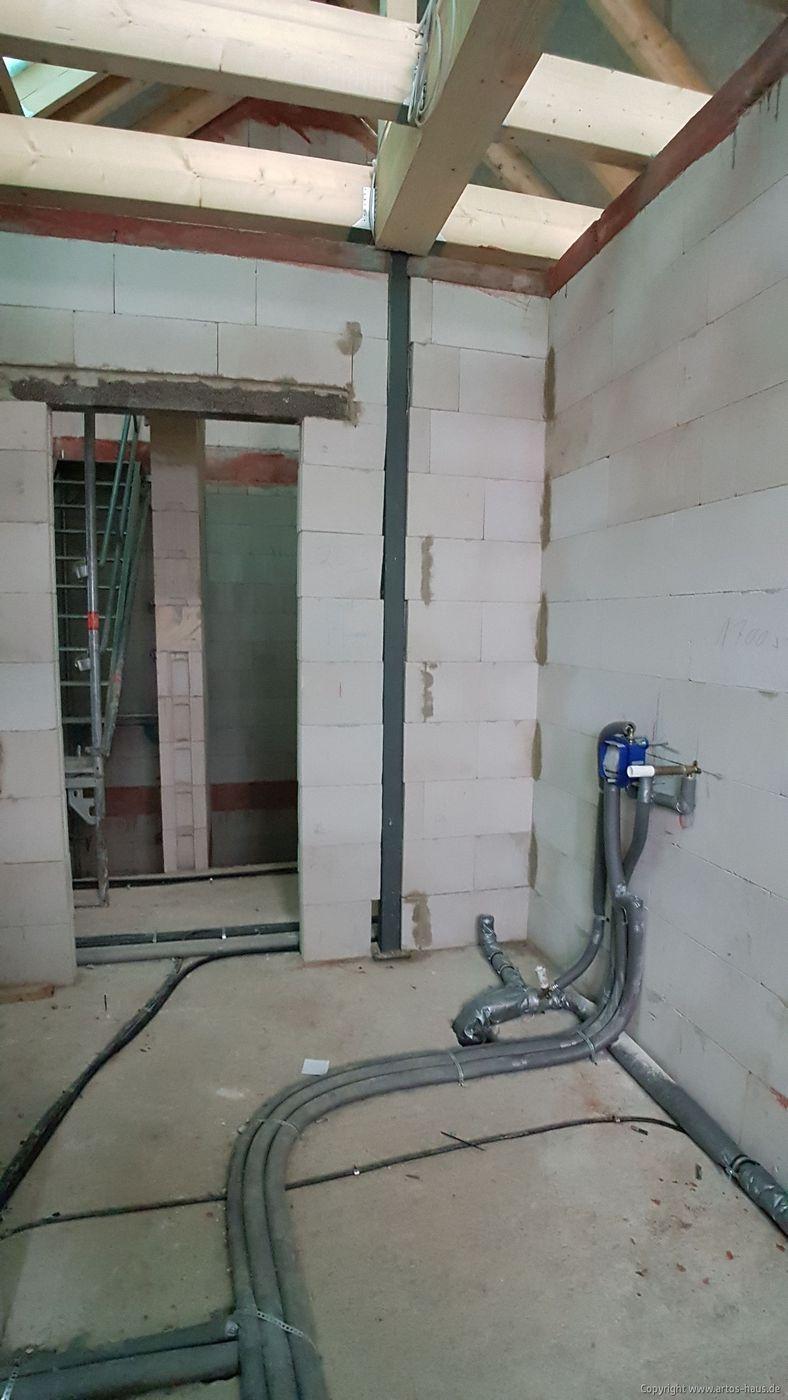 Rohinstallation ARTOS HAUS Bauvorhaben Hürth Bild 2