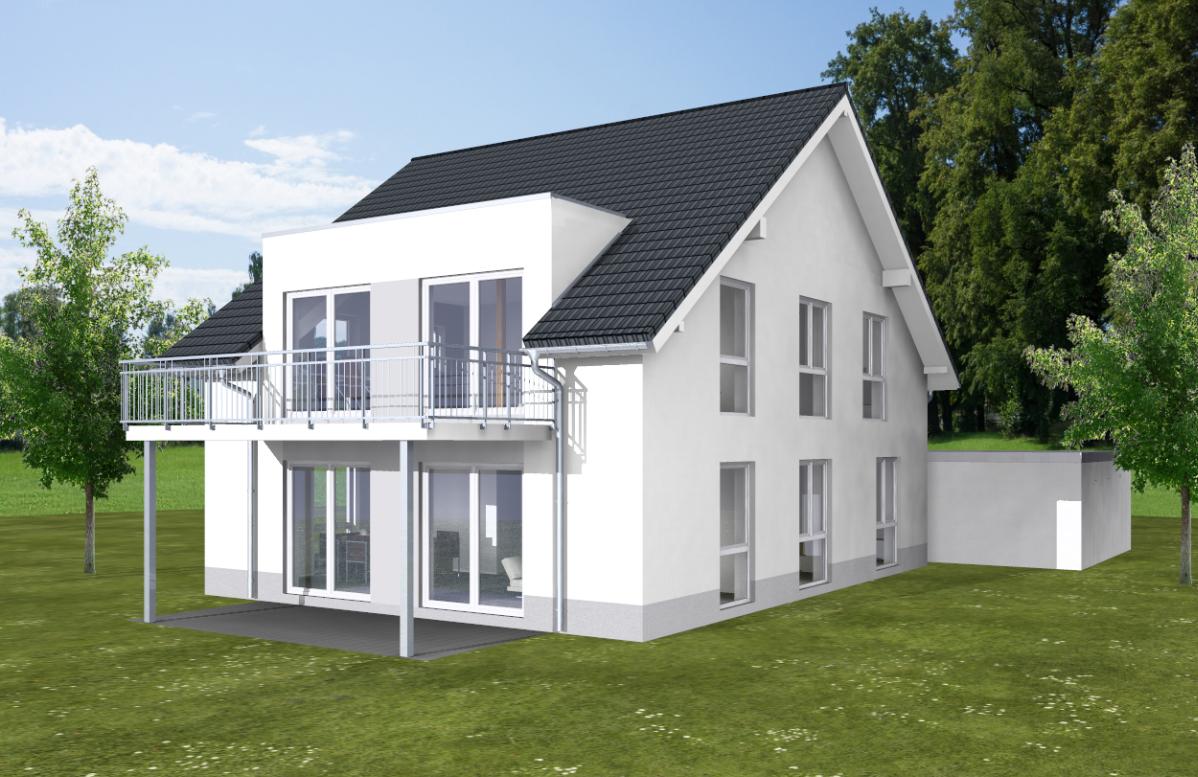 Zweifamilienhaus, Bauvorhaben in Bonn Bad Godesberg. Massiv gebaut von ARTOS HAUS