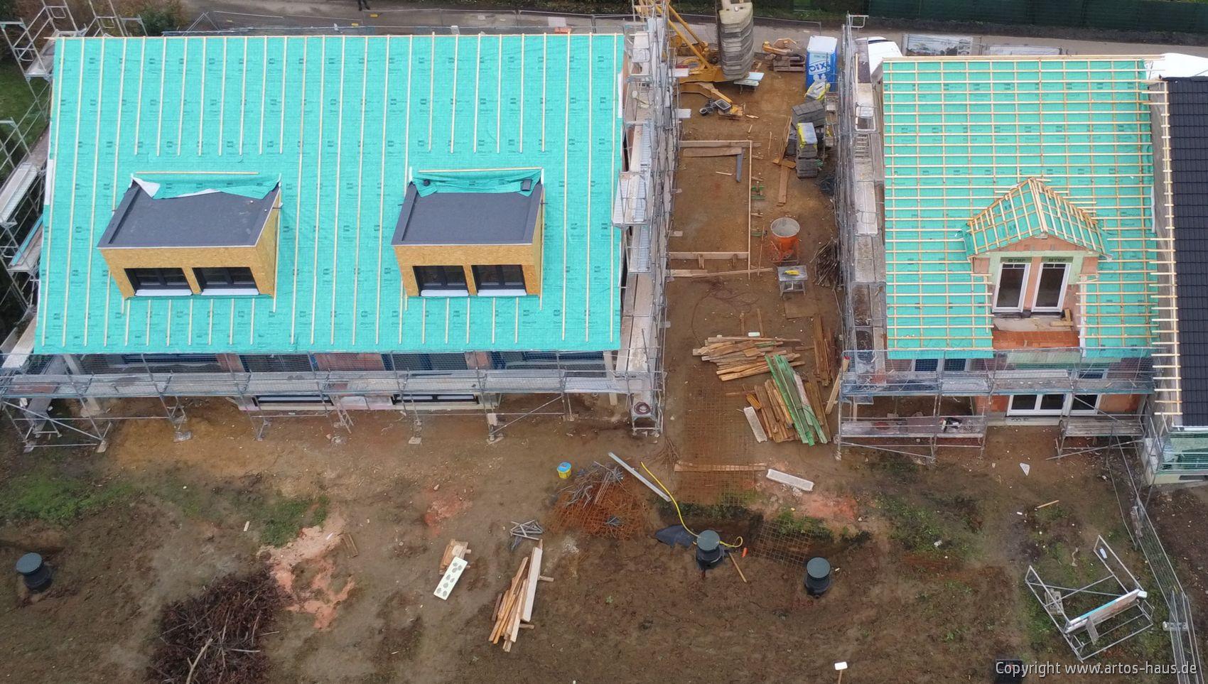 Luftbild der ARTOS-HAUS Baustelle in Hürth im Dezember 2020.