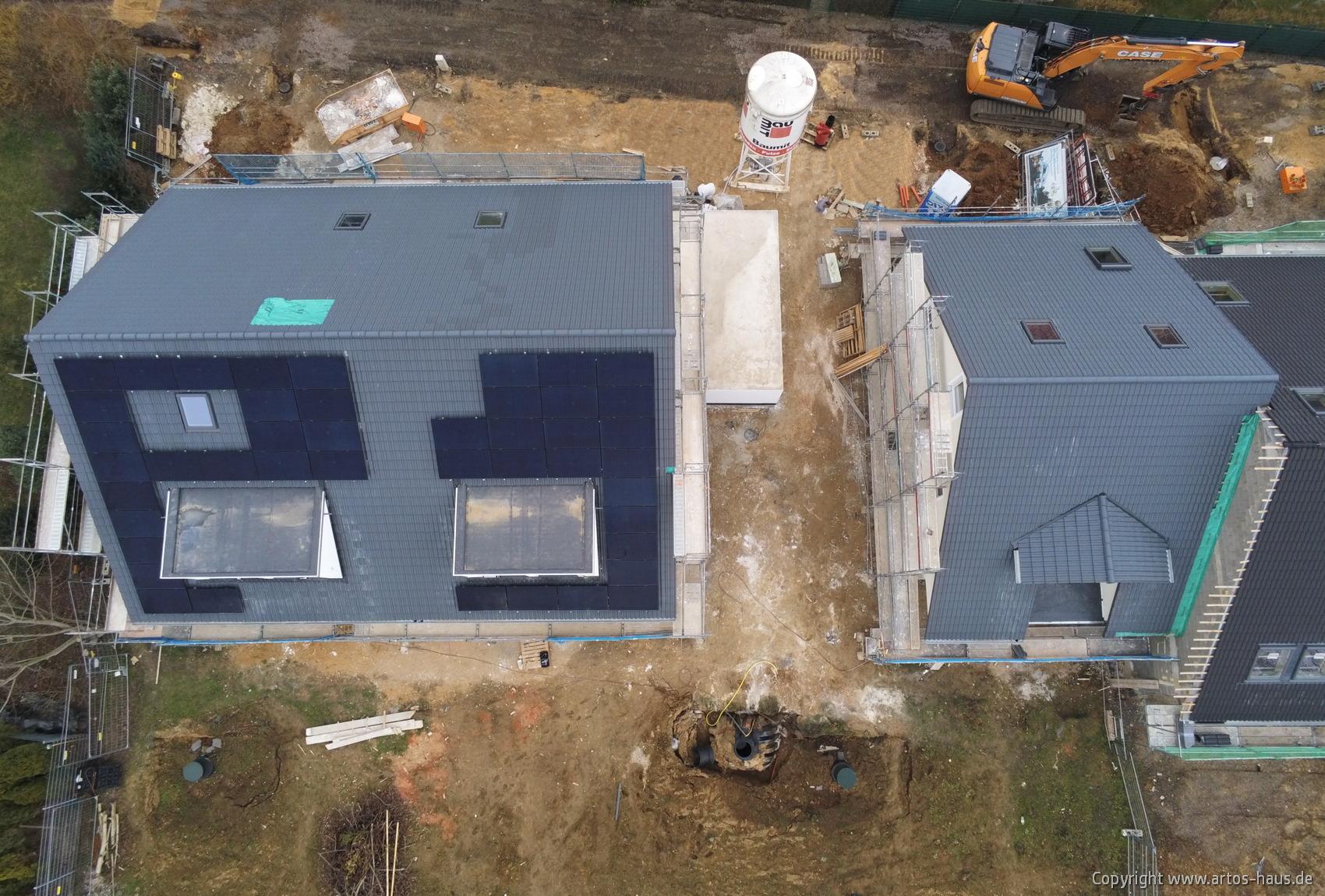 Luftbild der ARTOS HAUS Baustelle in Hürth am 8.3.2021