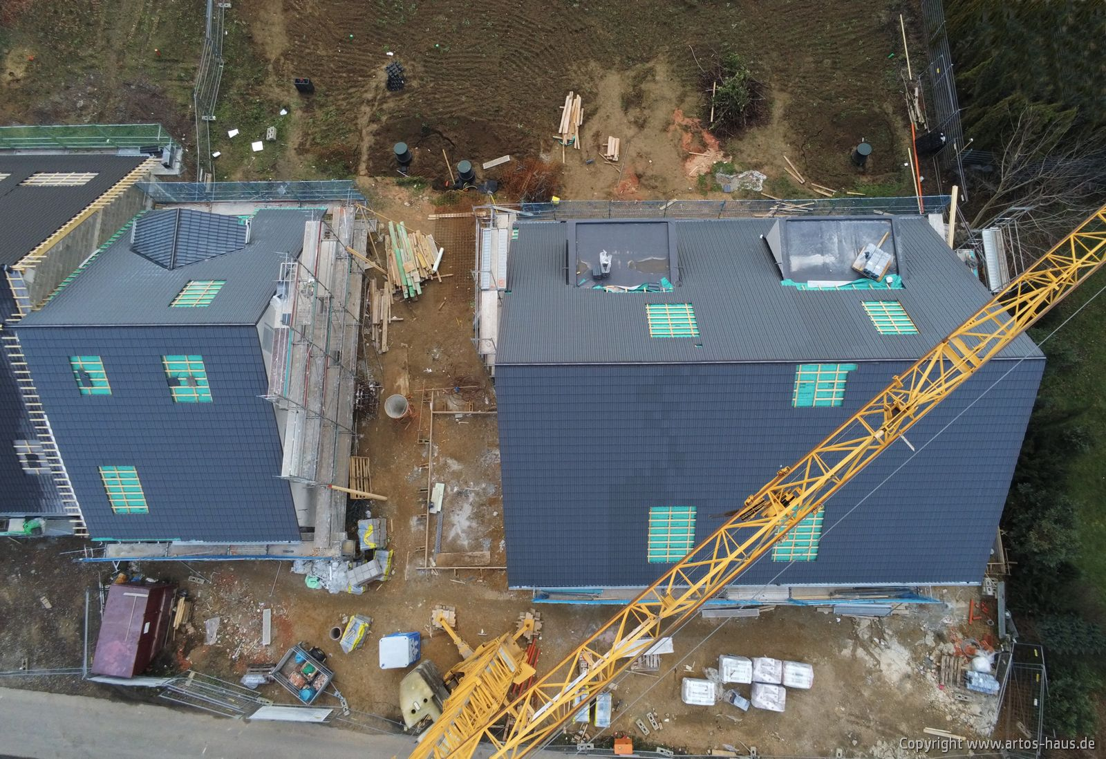 Luftbild Baustelle Hürth Januar 2021 / ARTOS-HAUS Bauvorhaben, Bild 1