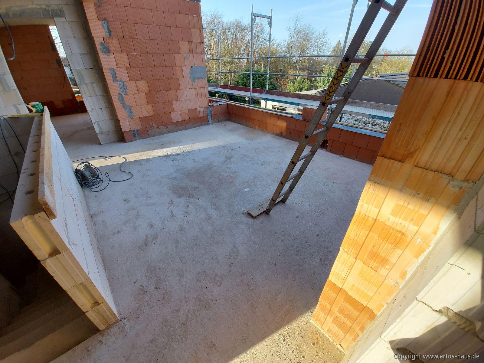 Rohbau Baustelle im Februar 2021 ARTOS HAUS Bild 2
