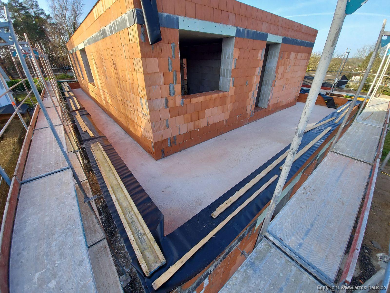 Rohbau Baustelle im Februar 2021 ARTOS HAUS Bild 3