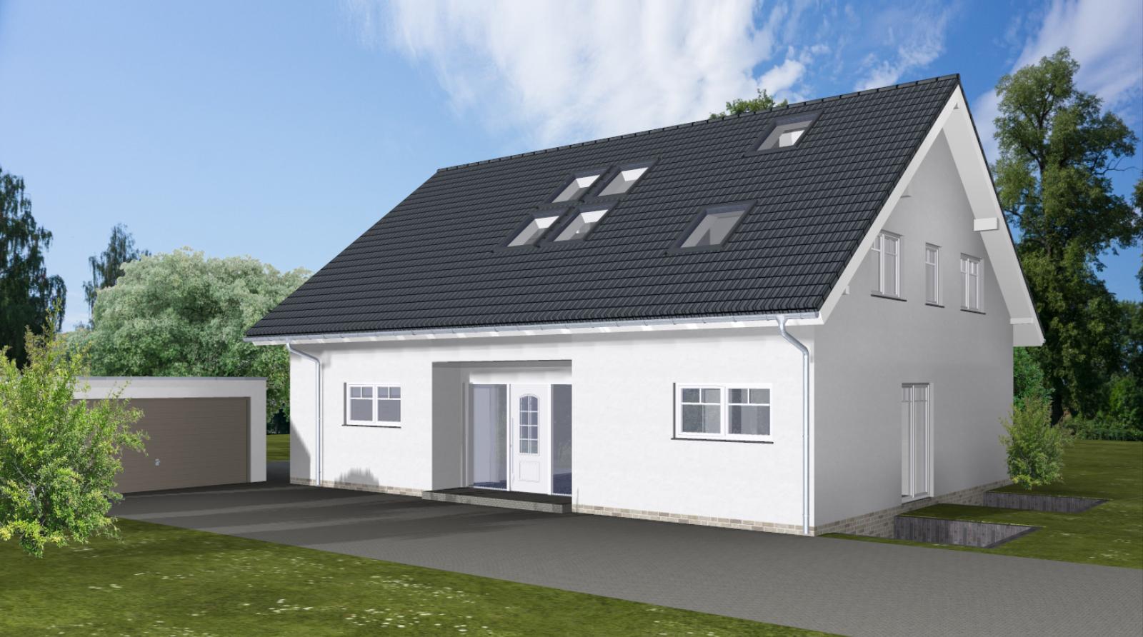 ARTOS HAUS Bauvorhaben Bonn-Ückesdorf, Einfamilienhaus Individuell geplant und gebaut 2021. Bild 1