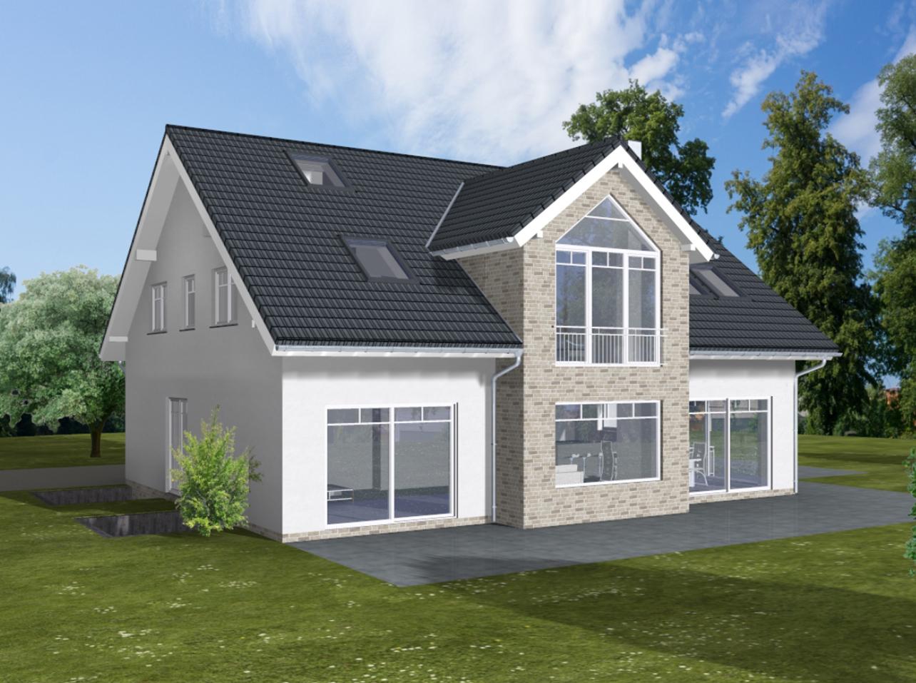 ARTOS HAUS Bauvorhaben Bonn-Ückesdorf, Einfamilienhaus Individuell geplant und gebaut 2021.