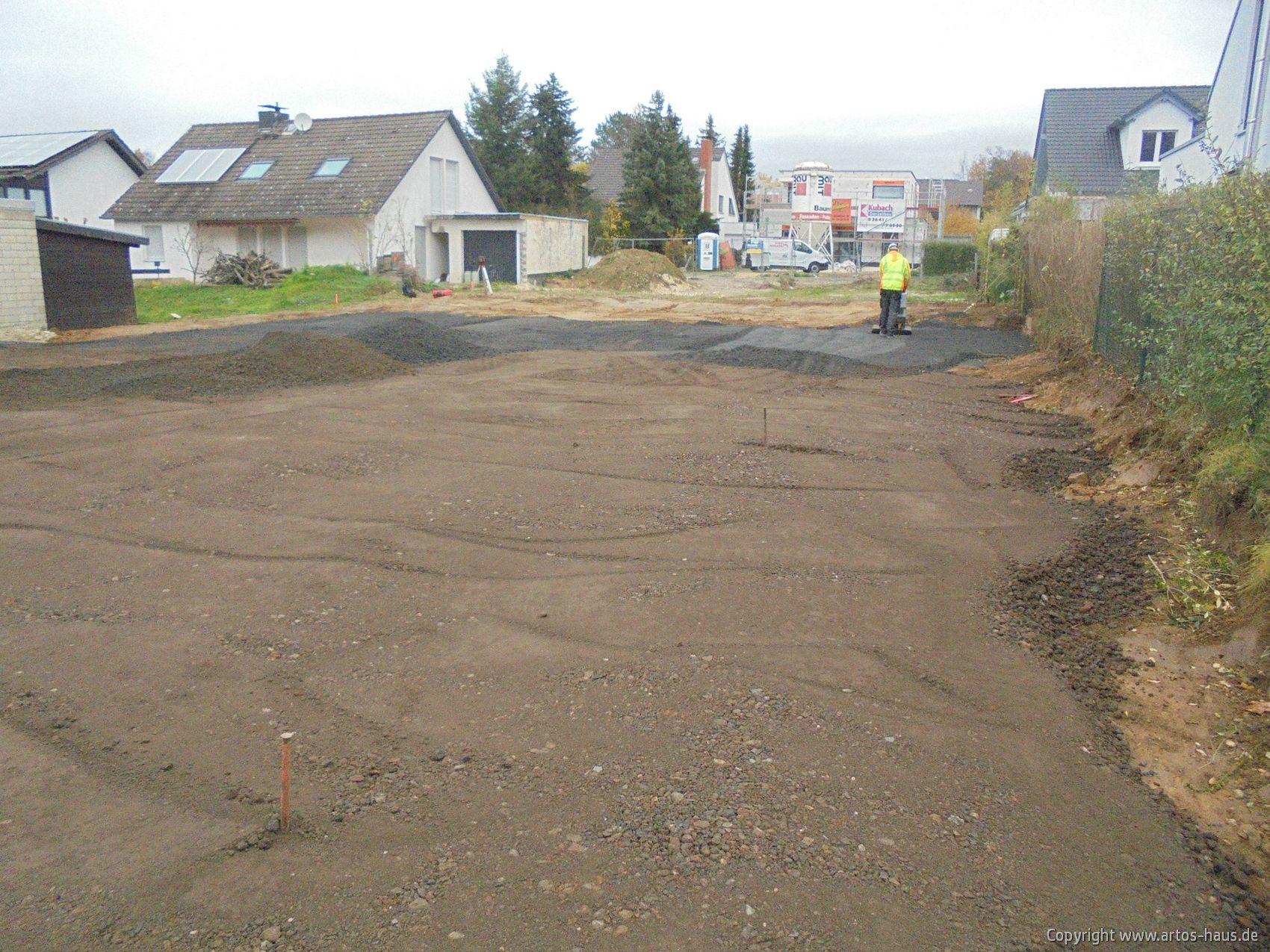 Erdarbeiten ARTOS HAUS, Bauvorhaben EFH mit ELW in Alfter. Bild 2
