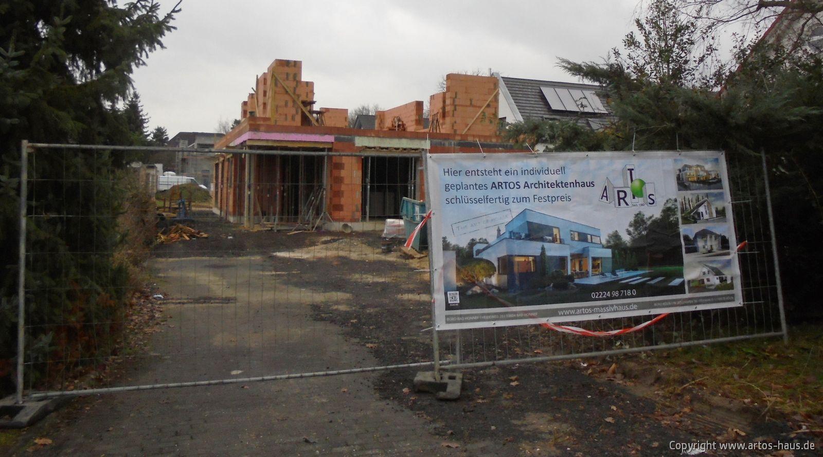 Januar 2021: Blick auf die ARTOS HAUS Baustelle in Bonn