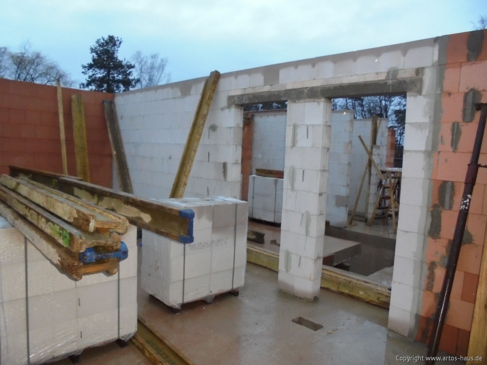 Rohbau der Baustelle in Bonn im Januar 2021 / ARTOS-HAUS Bild 6