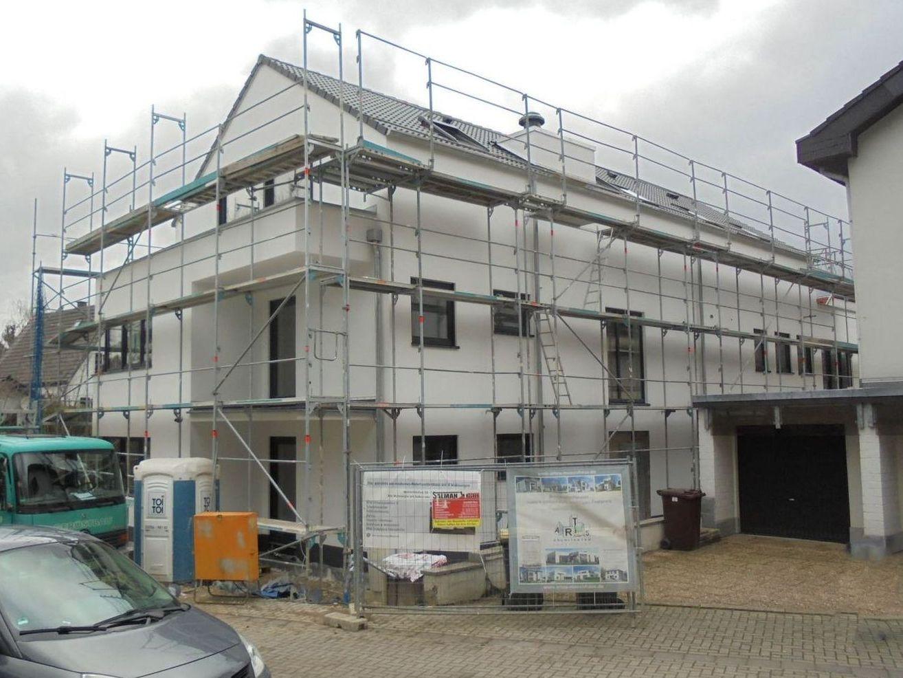 Baustelle Pulheim, Außenputz ARTOS-HAUS Bild 4