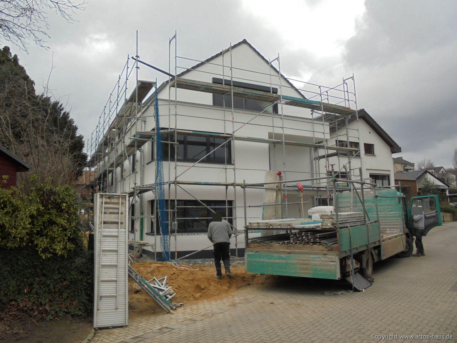 Baustelle Pulheim, Außenputz ARTOS-HAUS Bild 1