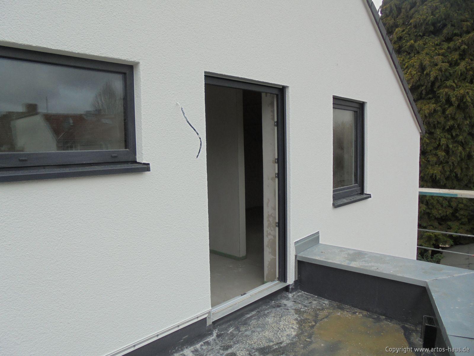 Baustelle Pulheim, Außenputz ARTOS-HAUS Bild 6