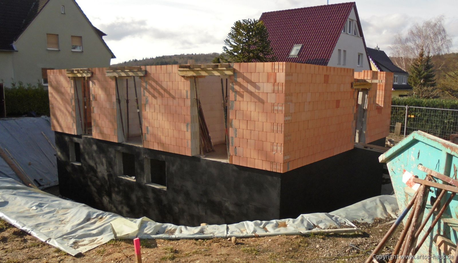 Rohbau Erdgeschoß, ARTOS-HAUS Bild 7