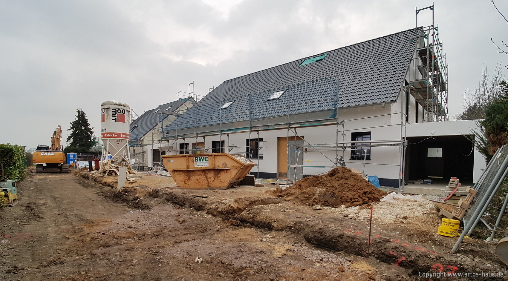 Luftbild der ARTOS HAUS Baustelle in Hürth am 8.3.2021 Bild 8