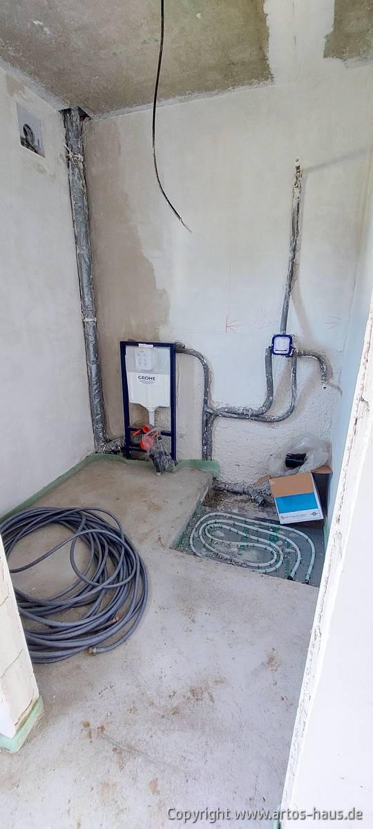 Estrich und Fußbodenheizung im Bad Bild 1