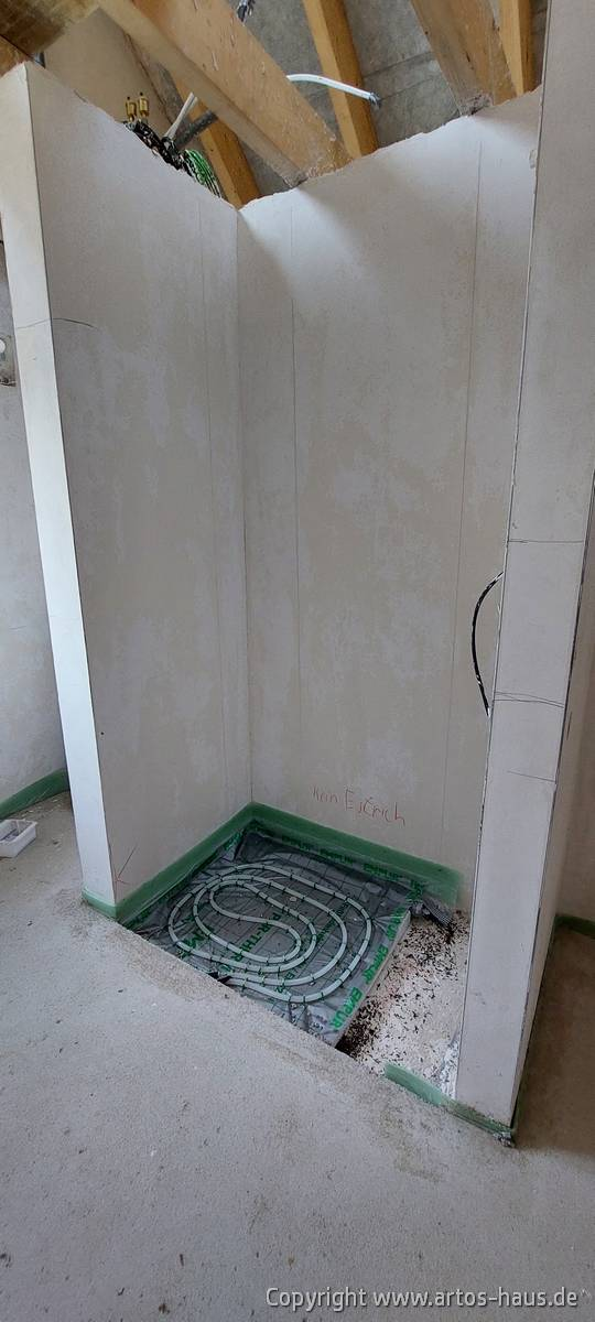 Estrich und Fußbodenheizung im Bad Bild 2