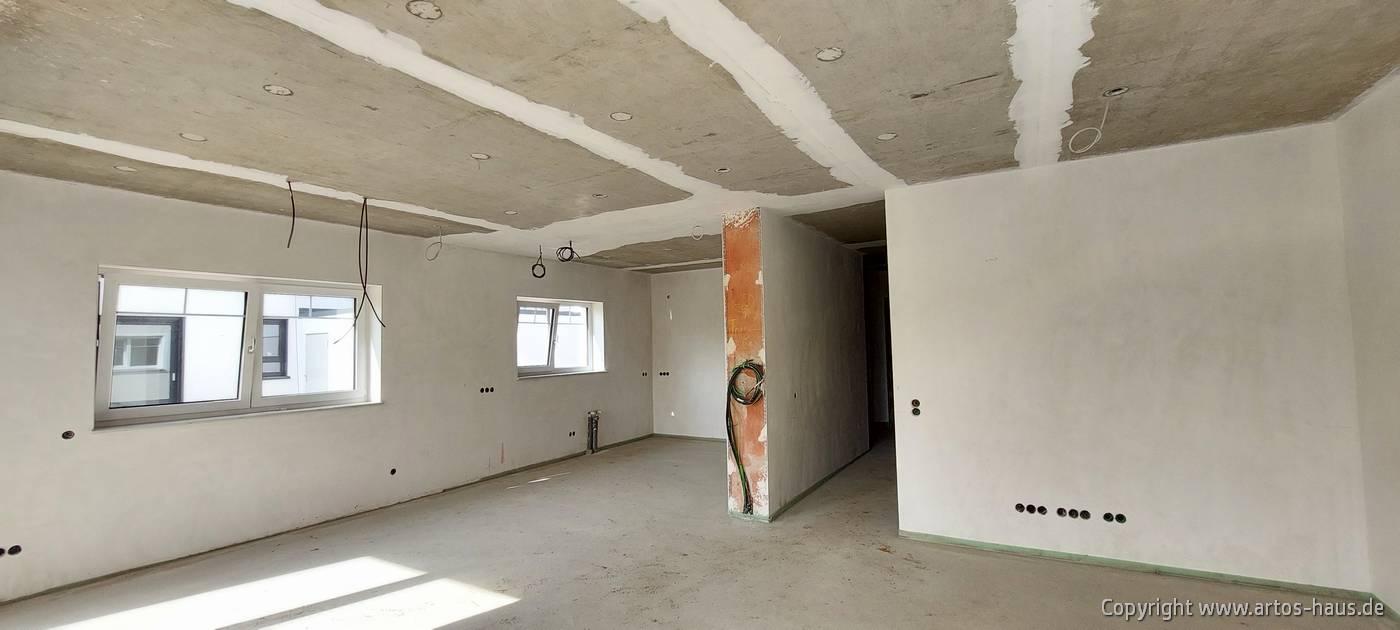 Estrich verlegt. ARTOS Bauvorhaben Hürth im Mai 2021, Bild 7