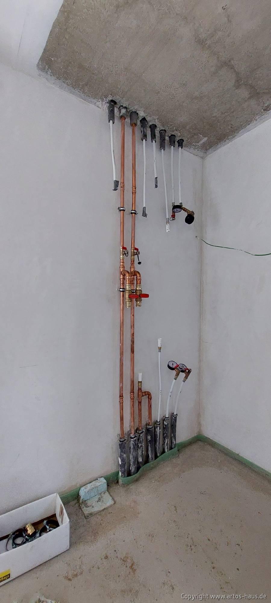 Estrich verlegt. ARTOS Bauvorhaben Hürth im Mai 2021, Bild 4