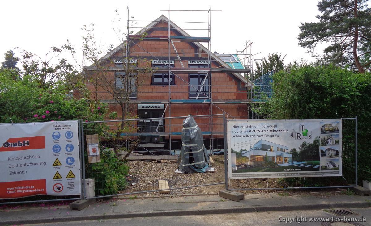 Fenstereinbau. ARTOS HAUS Bauvorhaben Bonn, Juni 2021, Bild 1