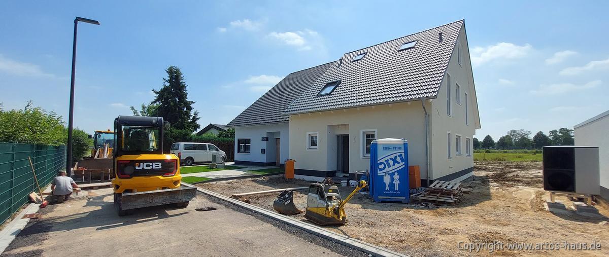 ARTOS HAUS in Hürth, 3 Doppelhaushälften Stand Juli 2021 Bild 2
