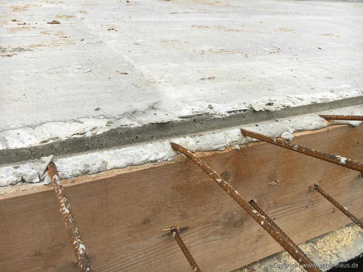 Kellerdecke betoniert Bild 1