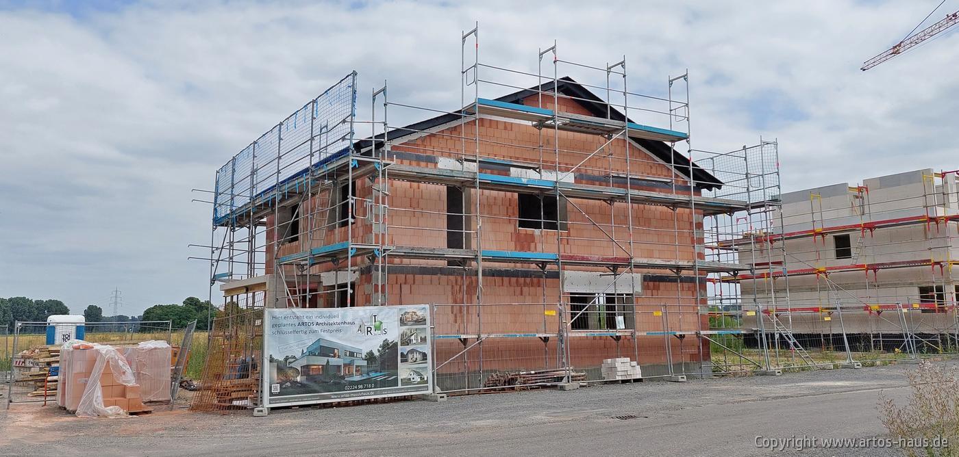 Baustelle Dormagen. ARTOS HAUS Juli 2021 Bild 4